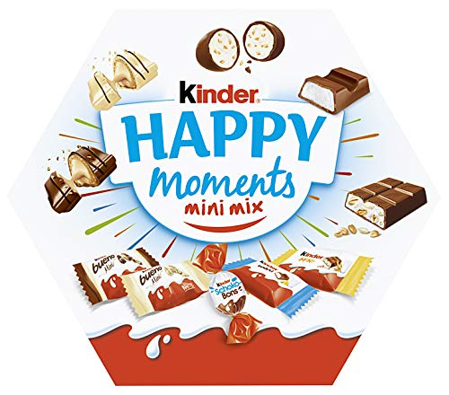 kinder Happy Moments Mini Mix, Zum geselligen Anbieten, Teilen mit Freunden und Familie, 162 g