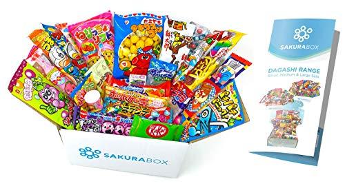 Sakura Box Japanisches Süssigkeiten Snack Dagashi Süßigkeiten Sortiment 30 Stück