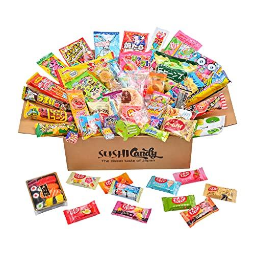 60 japanische Süßigkeiten & Snacks 10 Sushi Süßigkeitenboxen Set Amezaiku 10 japanisches Kit Kat Sortiment und 40 andere beliebte Süßigkeiten