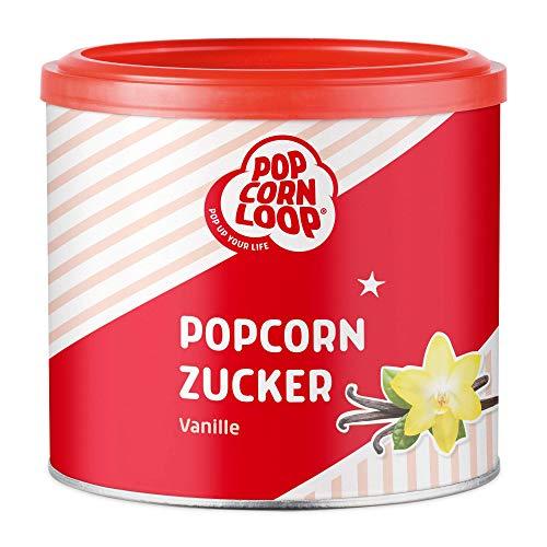 Popcornzucker Vanille 300g mit Bourbon-Vanille Zucker Vanillin Popcorn Mais Gewürz zum Verfeinern Kochen Backen Dessert Müsli Joghurt