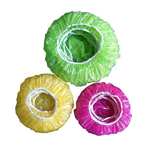 IWILCS Kunststoff Lebensmittel Abdeckung, 60 Stück Schüsseln Tassen Abdeckhauben, Wiederverwendbar Lebensmittel Abdeckung für Gemüse Frischeschutz oder für Zuhause, Hotel Duschkappe