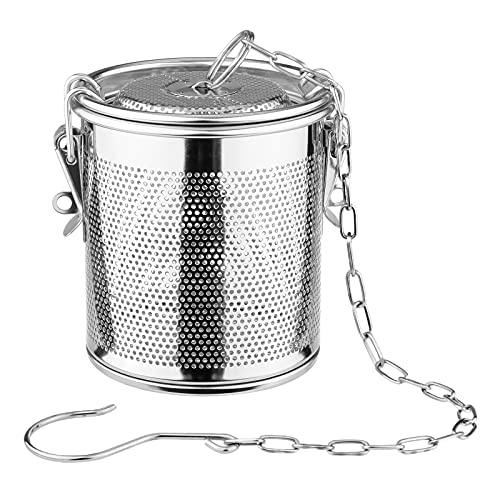 FLAMEER Gewürzsieb, Edelstahl Metall Teefilter Edelstahlsieb Gewürzkugel Gewürzei - 1.3 l