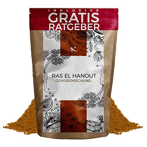 Ras el Hanout Gewürzmischung 100g fein gemahlen inkl gratis Ratgeber I orientalisches Gewürz Pulver mild pikant marokkanische Spezialität für Couscous