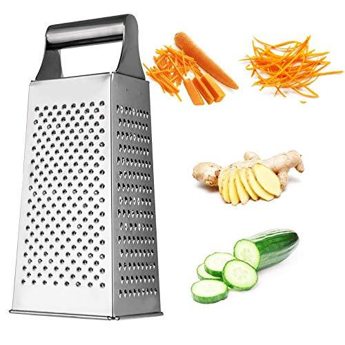 Reibe Edelstahl Reibe Küchenreibe aus Edelstahl Reibeisen aus Edelstahl Hobel Reibe Raspel Küchen Reibe Obst Reibe Gemüse Reibe Käse Reibe Ingwer Reibe 2 Stücke Wird für Obst Gemüse Käse Usw Verwendet