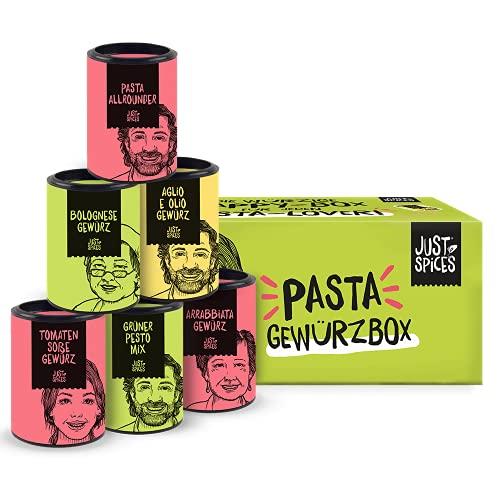 Just Spices Pasta Gewürzbox I Gewürze für Pasta-Lover I Für Männer Frauen und Kinder