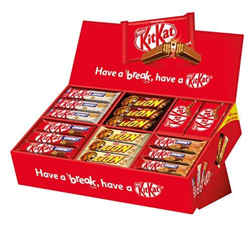 Nestlé KitKat und Lion Party Box, 6 Sorten, 68 Schokoriegel (2,8kg)