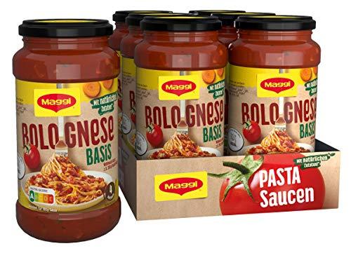 Maggi Pasta Sauce Bolognese Basis Nudelsauce mit natürlichen Zutaten, 6er Pack (6 x 500g)