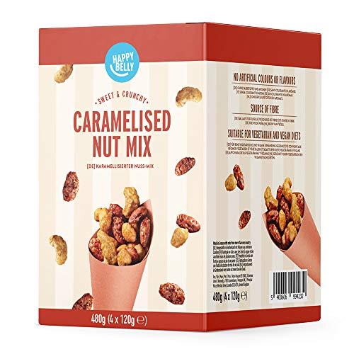 Amazon Marke - Happy Belly Karamellisierter Nuss-Mix, 120g x 4