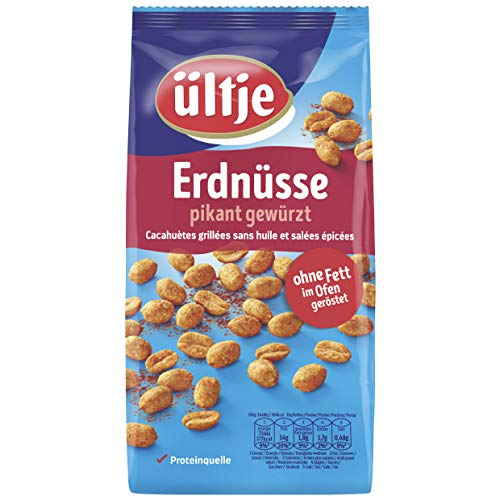 Erdnüsse, pikant gewürzt, ohne Fett geröstet 5x 1.000g