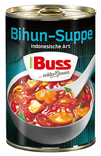 Buss Bihun-Suppe Indonesische Art - mit Hühnerfleisch und Glasnudeln, 12er Pack (12 x 400 g)