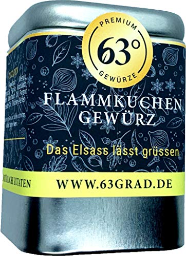 63 Grad Flammkuchen Gewürz - Macht Elsässer Flammkuchen noch leckerer (75g)
