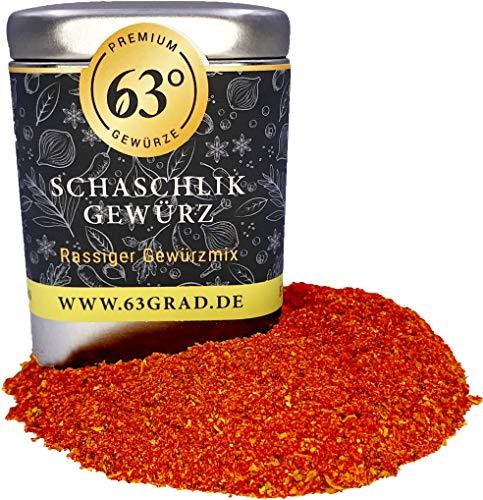 63 Grad - Schaschlik Gewürz - für leckere Schaschlikspiesse und Soßen (90g)