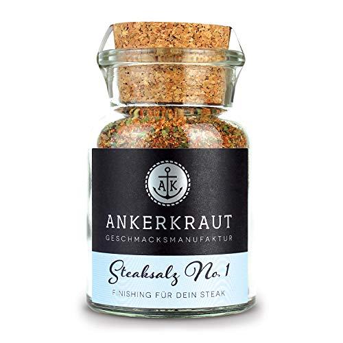 Ankerkraut Steaksalz No. 1, das pefekte Finisher- und Steakhouse-Salz, 80g im Korkenglas