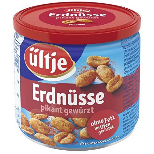 Erdnüsse, pikant gewürzt, ohne Fett geröstet, Dose 16x 190g