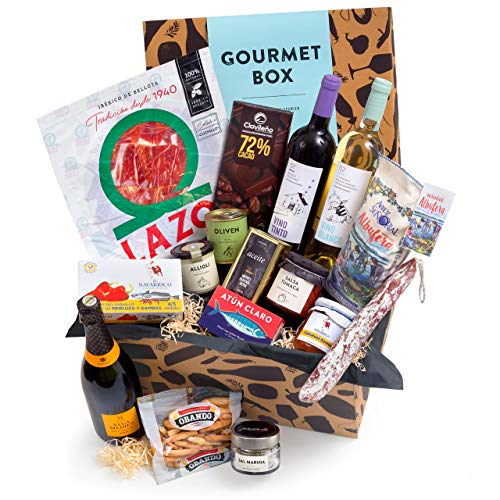 Feinkost-Präsentkorb Gourmet mit spanischen Delikatessen - Geschenkkorb für Feinschmecker & Freunde der mediterranen Küche