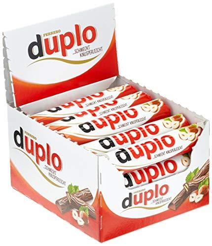 Ferrero duplo Einzelriegel – Schmeckt knusperleicht – 1 Packung mit je 40 Einzelriegeln (40 x 18,2 g)