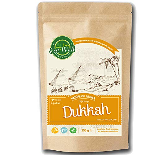 Dukkah (Dukka / Dukkha ) Gewürzmischung (250gr ) Dukkah gewürz I Ägyptische Gewürzmischung mit gerösteten haselnüssen IEat Well Premium Foods