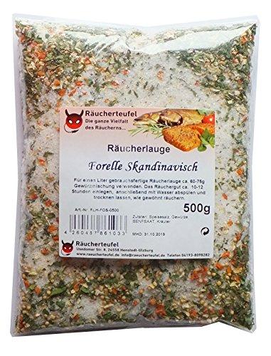 Räucherteufel Räucherlauge Forelle Skandinavische Art 500g