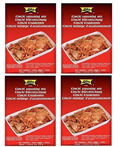 4er-Pack LOBO Kimchi Würzmischung Kim Chi Würzpaste