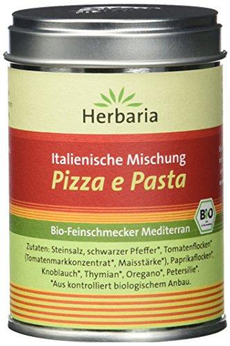 Herbaria 'Pizza e Pasta' italienische Mischung, 1er Pack (1 x 100 g Dose) - Bio