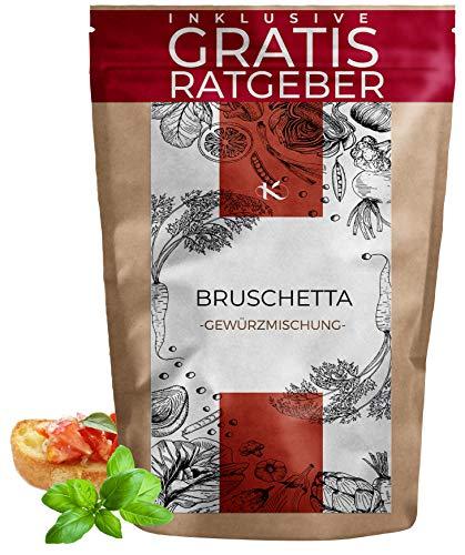 Bruschetta Gewürzmischung Bruschettagewürz 100g | Gewürzspezialität für Bruschetta inkl gratis Ratgeber | Küchengewürz hochwertig italienisches Gewürz