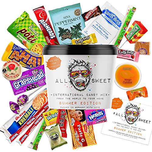 ALL SWEET 24 Teile Süßigkeiten aus Aller Welt Summer Edition, Amerikanische Süssigkeiten Box XXL, Süßigkeiten Großpackung die Mystery Box (Summer Edition)