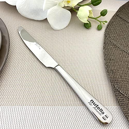 Nutellamesser 23 cm, Personalisiertes Geschenk, Nutellastreicher Edelstahl poliert, Italienisches Design, Nutella Geschenk, Streuer