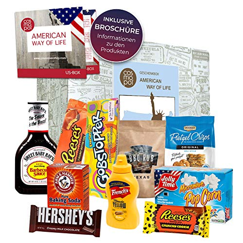 Geburtstagsbox American Way of life Amerikanische Süßigkeiten + US BBQ aus den Staaten | Geschenkidee zum Geburtstag | Geschenk Box Amerika Set