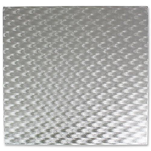 PME Quadratische Tortenplatte 43 cm, 11 mm dick, Kunststoff, Silber, 43 x 1.1 x 43 cm
