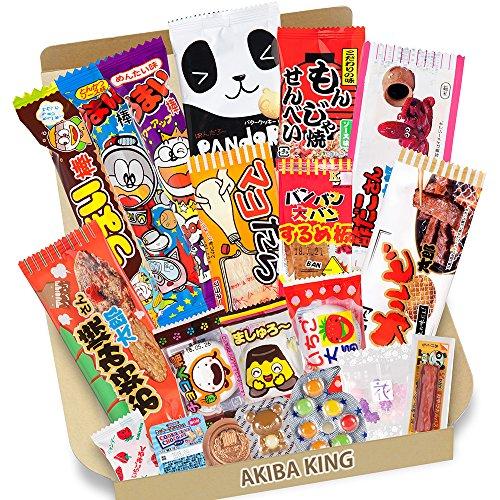 Versuch DAGASHI 20 pcs Japanischer Snacks mit AKIBA KING Aufkleber