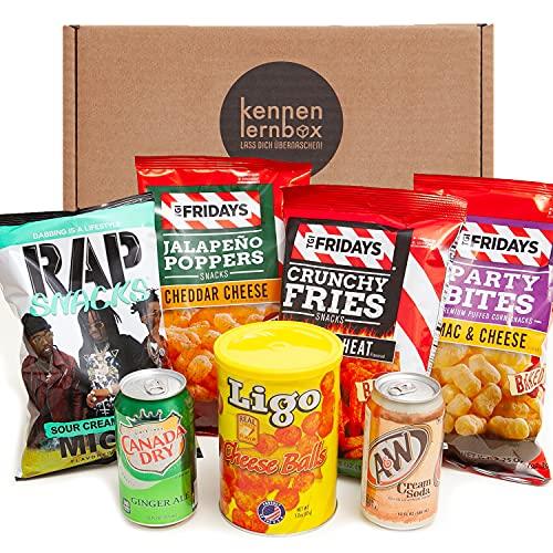USA Chips Box   Kennenlernbox mit 5 beliebten Chips und 2 Getränke aus den USA   Für Filmabende oder als Geschenkidee für besondere Anlässe