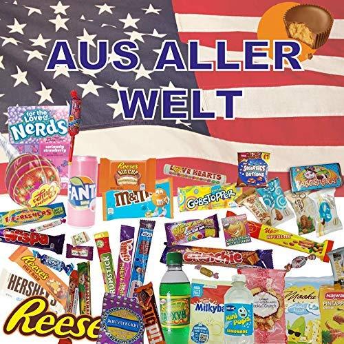 QueenBox® 🍭Süssigkeiten aus aller Welt Großpackungen | 25 x Süßigkeiten Mix | USA Box | Asia, Russia, Arabic Schokolade 🍫 | Party Box | Snackbox | Candy Mix 🍬 asiatische snacks