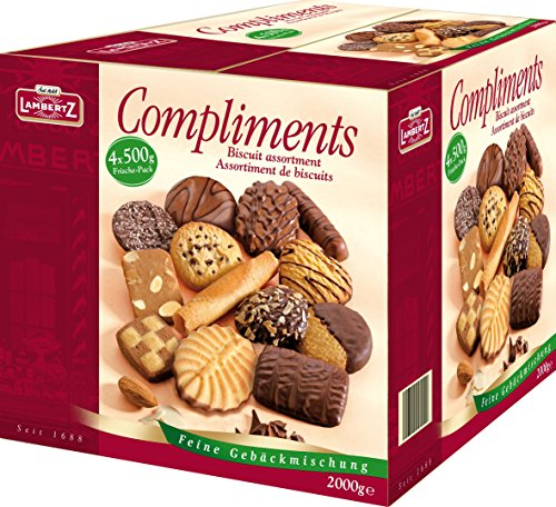 Lambertz Compliments 4 x 500gr Gebäckmischung in 2kg Office Box