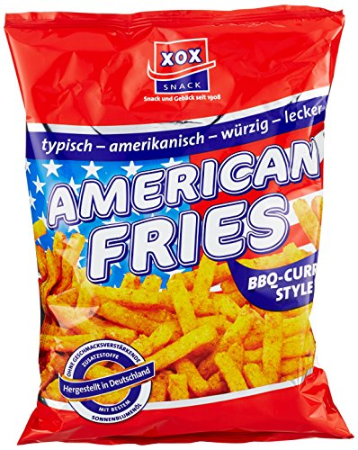 XOX American Fries BBQ-Curry Style, 10er Pack (10 x 125 g)