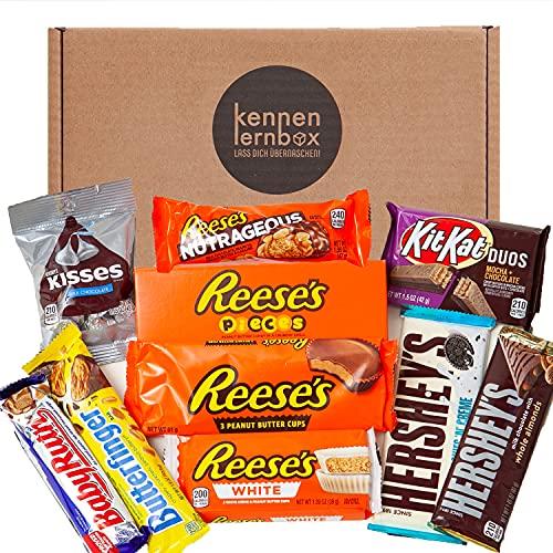 USA Schoko Box | Kennenlernbox mit 10 beliebten Schokolade aus Amerika | Geschenkidee für besondere Anlässe