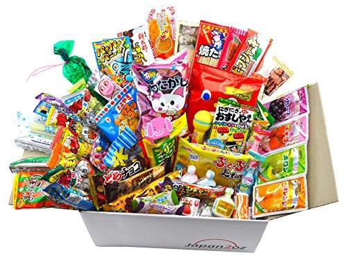 Japanisches Süssigkeiten Box Snack Dagashi Süßigkeiten Sortiment 105 Stück Deluxe