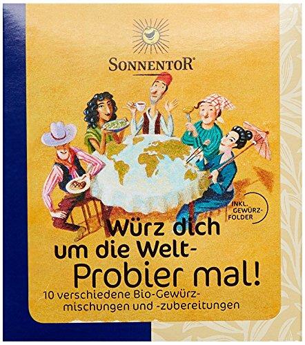Sonnentor Probier mal! Würz dich um die Welt 10 Einzelgewürze á 5g, 1er Pack (1 x 50 g) - Bio