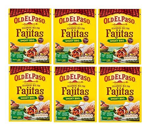 Old El Paso Fajita Gewürze Mix Original Rauchgrill 35 g (Packung mit 6 Stück)
