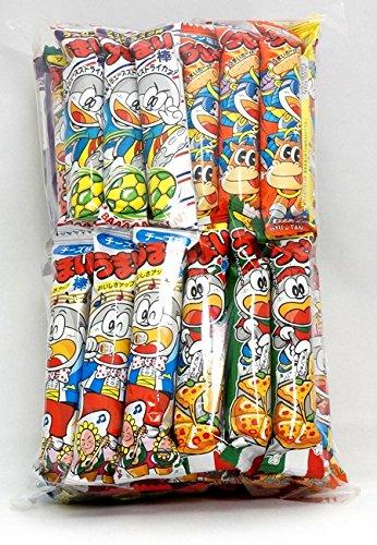 Assorted Japanese Junk Food Snack Umaibo 50 Packs of 11 Types Umaibo by Dagashi
