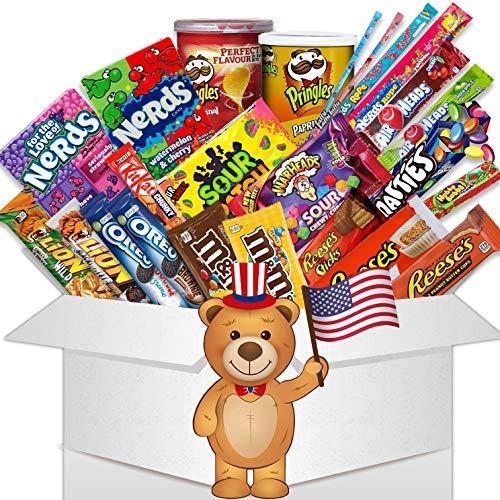 HappyLOL® 24 Teile - Süßigkeiten Box - amerikanische Süssigkeiten zum naschen oder verschenken - Süßigkeiten aus aller Welt - Amerikanische Süssigkeiten Box