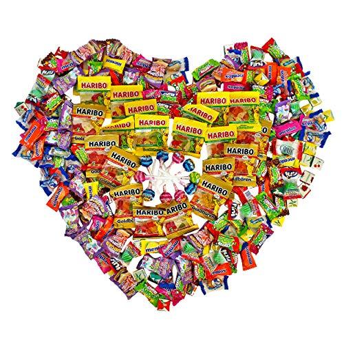 Süßigkeiten Mix-Box XXL Kinder-Geburtstag Halloween - Pinata Füllung Jungs Mädchen - Lutscher, Gummibärchen, Kaubonbon, Kaugummi, Brause - 200 Stück