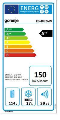 Energieeffizienz Gorenje RBI4092AW