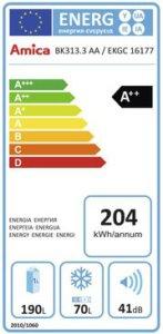 Energieeffizienzklasse Amica EKGC 16177