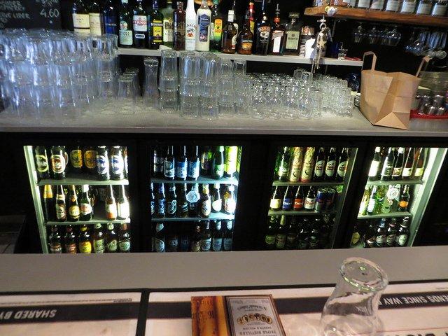 Flaschenkühlschrank in der Gastronomie